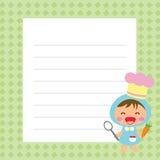 Αρχιμάγειρας με τον κατάλογο επιλογής Απεικόνιση αποθεμάτων