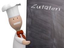 Αρχιμάγειρας με τον πίνακα κιμωλίας Στοκ εικόνα με δικαίωμα ελεύθερης χρήσης