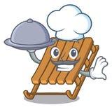 Αρχιμάγειρας με το έλκηθρο πάγου παιχνιδιών τροφίμων στη μορφή κινούμενων σχεδίων ελεύθερη απεικόνιση δικαιώματος