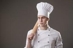 Αρχιμάγειρας με το κύλισμα Στοκ Φωτογραφία