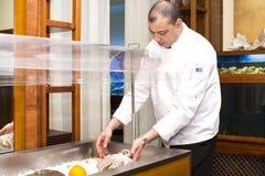 Αρχιμάγειρας του εστιατορίου ψαριών Στοκ Φωτογραφία