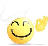 Αρχιμάγειρας emoticon με το εντάξει χέρι Στοκ φωτογραφία με δικαίωμα ελεύθερης χρήσης