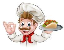 Αρχιμάγειρας Kebab κινούμενων σχεδίων Στοκ Εικόνα