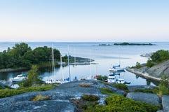 Αρχιπέλαγος Norrpada Στοκχόλμη Leisureboats Στοκ Εικόνα