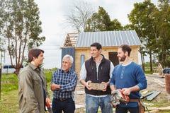 Αρχιτέκτονας και artisans από κοινού Στοκ Εικόνα