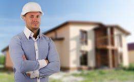 Αρχιτέκτονας, οικοδόμος ή δομικός μηχανικός Στοκ Εικόνα