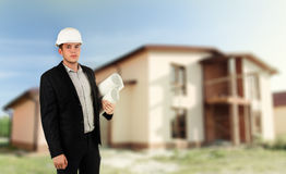 Αρχιτέκτονας, οικοδόμος ή δομικός μηχανικός Στοκ Φωτογραφίες
