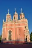 Αρχιτέκτονας Yury Velten εκκλησιών Chesme στη Αγία Πετρούπολη Στοκ εικόνες με δικαίωμα ελεύθερης χρήσης