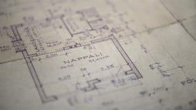 Αρχιτεκτονικά έγγραφα ενός προγράμματος στέγασης απόθεμα βίντεο