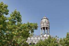Αρχιτεκτονικά αριστουργήματα στη Βαρκελώνη στοκ εικόνες