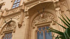 Αρχιτεκτονικά στοιχεία του κάστρου Lednice, Δημοκρατία της Τσεχίας απόθεμα βίντεο