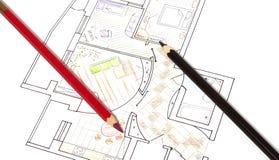 αρχιτεκτονικά σχέδια Στοκ εικόνα με δικαίωμα ελεύθερης χρήσης