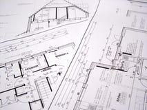 αρχιτεκτονικά σχέδια Στοκ Φωτογραφίες