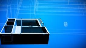 αρχιτεκτονικά σχέδια σχεδιαγραμμάτων διανυσματική απεικόνιση