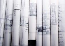 αρχιτεκτονικά σχέδια Στοκ Φωτογραφία