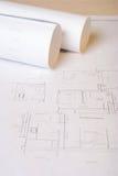 Αρχιτεκτονικά σχεδιαγράμματα Στοκ Εικόνες