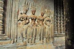 Αρχιτεκτονικές λεπτομέρειες Angkar Στοκ Εικόνες