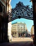 Αρχιτεκτονικές καλλιτεχνικές διακοσμήσεις στο παλάτι Hofburg, Βιέννη Στοκ Εικόνες