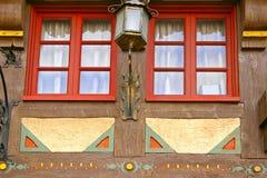 αρχιτεκτονικές λεπτομέρειες που χρωματίζουν τον τοίχο Στοκ Εικόνες