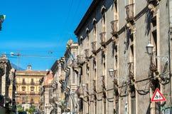 Αρχιτεκτονικές λεπτομέρειες της Κατάνια, μια πόλη στη Σικελία, Ιταλία Στοκ Φωτογραφία