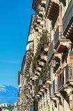 Αρχιτεκτονικές λεπτομέρειες της Κατάνια, μια πόλη στη Σικελία, Ιταλία Στοκ φωτογραφίες με δικαίωμα ελεύθερης χρήσης