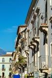 Αρχιτεκτονικές λεπτομέρειες της Κατάνια, μια πόλη στη Σικελία, Ιταλία Στοκ Εικόνες