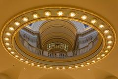 Αρχιτεκτονικές λεπτομέρειες του εσωτερικού του κράτους Capitol της Οκλαχόμα στη Πόλη της Οκλαχόμα, ΕΝΤΆΞΕΙ στοκ εικόνες με δικαίωμα ελεύθερης χρήσης