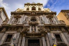 Αρχιτεκτονικές λεπτομέρειες του μπαρόκ καθεδρικού ναού στο Παλέρμο, Σικελία στοκ φωτογραφία με δικαίωμα ελεύθερης χρήσης
