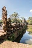 Αρχιτεκτονικές στο ναό Angkor Wat Vishnu Στοκ Εικόνα