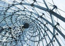 Αρχιτεκτονικής γυαλί/μέταλλο δομή κτηρίου καμπυλών σύγχρονη Στοκ Εικόνα