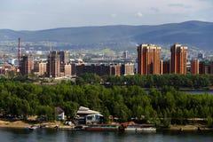 Αρχιτεκτονική αντίθεση σε Krasnoyarsk Στοκ Φωτογραφίες