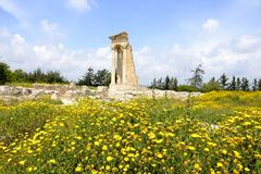 Αρχιτεκτονική από το άδυτο Apollon Hylates στοκ εικόνες