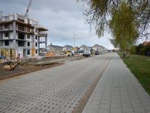 αρχιτεκτονική αστική Καλλιτεχνικός κοιτάξτε στα εκλεκτής ποιότητας ζωηρά χρώματα Στοκ εικόνες με δικαίωμα ελεύθερης χρήσης