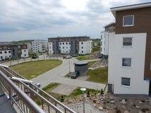 αρχιτεκτονική αστική Καλλιτεχνικός κοιτάξτε στα εκλεκτής ποιότητας ζωηρά χρώματα Στοκ Φωτογραφία