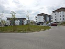 αρχιτεκτονική αστική Καλλιτεχνικός κοιτάξτε στα εκλεκτής ποιότητας ζωηρά χρώματα Στοκ εικόνα με δικαίωμα ελεύθερης χρήσης