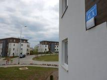 αρχιτεκτονική αστική Καλλιτεχνικός κοιτάξτε στα εκλεκτής ποιότητας ζωηρά χρώματα Στοκ Εικόνες