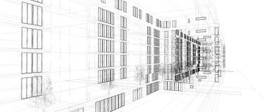 αρχιτεκτονική αφαίρεση&sigmaf απεικόνιση αποθεμάτων
