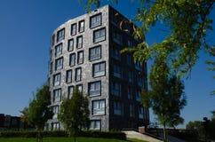 αρχιτεκτονική Βαρκελώνη που χτίζει το σύγχρονο κατοικημένο ύφος της Ισπανίας Στοκ Εικόνες