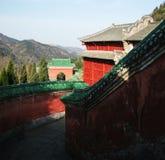 Αρχιτεκτονική βουνών Wudang, στοκ εικόνες