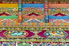 αρχιτεκτονική διακοσμητική διακόσμηση Θιβετιανός Στοκ Εικόνα