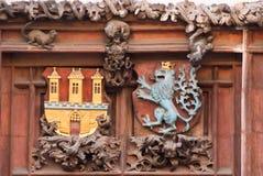 Αρχιτεκτονική διακόσμηση να ενσωματώσει την Πράγα, Δημοκρατία της Τσεχίας στοκ εικόνες με δικαίωμα ελεύθερης χρήσης