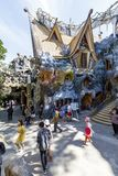 Αρχιτεκτονική ενός τρελλού σπιτιού σε Dalat, Βιετνάμ στοκ φωτογραφίες