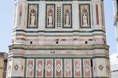 Αρχιτεκτονική λεπτομέρεια πύργων κουδουνιών Giotto, Φλωρεντία, Ιταλία Στοκ Εικόνες