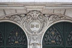 Αρχιτεκτονική λεπτομέρεια στη Λισσαβώνα Στοκ φωτογραφία με δικαίωμα ελεύθερης χρήσης