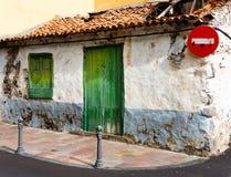 Αρχιτεκτονική λεπτομέρεια στο Λα Gomera του San Sebastian de Στοκ Φωτογραφίες