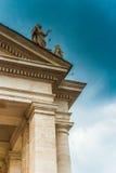 Αρχιτεκτονική λεπτομέρεια της κιονοστοιχίας σε Βατικανό - Στοκ Εικόνα