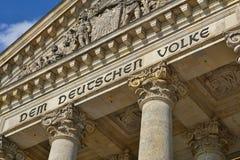 Αρχιτεκτονική λεπτομέρεια της κορυφής του γερμανικού Κοινοβουλίου Reichstag - Ομοσπονδιακή Βουλή στο Βερολίνο Στοκ εικόνες με δικαίωμα ελεύθερης χρήσης