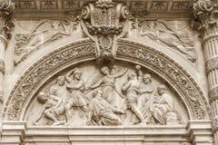 Αρχιτεκτονική λεπτομέρεια της sainte-Genevieve, Παρίσι Στοκ Εικόνα