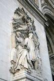 Αρχιτεκτονική λεπτομέρεια του τόξου de Triomphe de l'Etoile, Παρίσι, Γαλλία Στοκ Φωτογραφίες