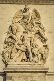 Αρχιτεκτονική λεπτομέρεια Arc de Triomphe Στοκ Φωτογραφίες
